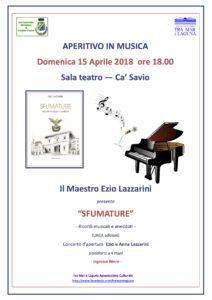 15.04.18 ore 18.00 presentazione e concerto SFUMATURE (Ezio Lazzarini)