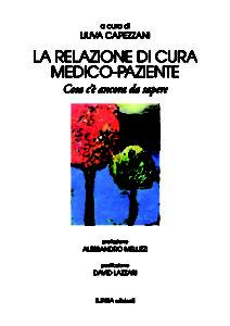 LA RELAZIONE DI CURA MEDICO-PAZIENTE (Liuva Capezzani)