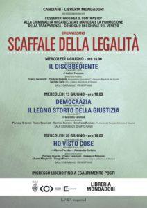 rassegna SCAFFALE DELLA LEGALITA' Libreria Mondadori/Centro Culturale Candiani