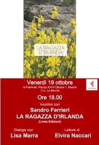 19.10.18 ore 18.00 presentazione LA RAGAZZA D'IRLANDA (Sandro Ferrieri)